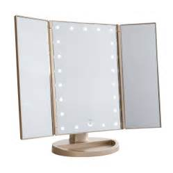 Makeup Vanity With Light Mirror Impressions Vanity Co Touch 3 0 Trifold Dimmable Led