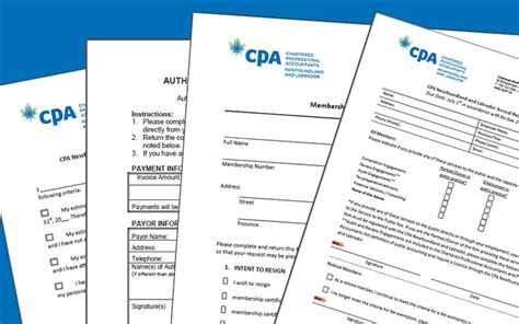 Cpa Canada Exemptions For Mba by Fees And Forms