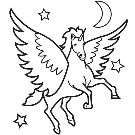 Coloring Page Flying Unicorn | flying unicorn coloring pages clipart best clipart best