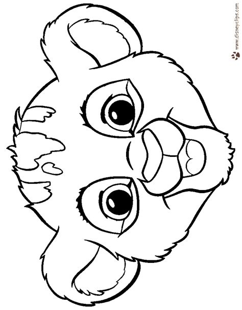 The Lion King Coloring Pages Disney Coloring Book Baby Simba Coloring Pages
