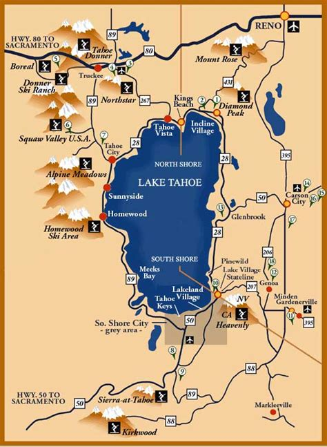 lake tahoe map maps of lake tahoe area maps trail maps drive around