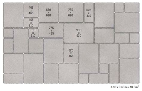 Patio Patterns 4 Sizes by Patio Layout Guides