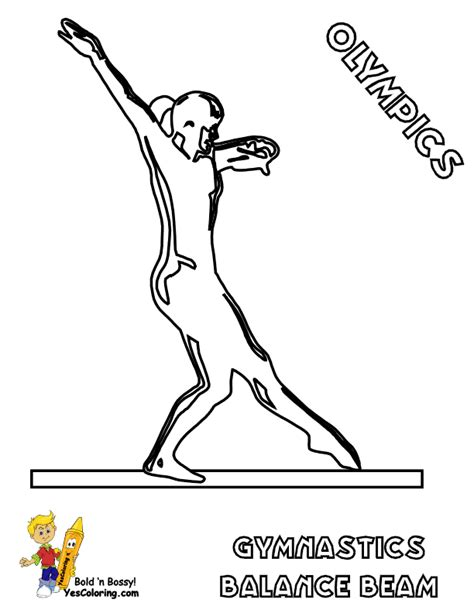 gymnastics coloring pages beam olympics coloring pages summer yescoloring free sports