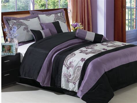 purple bed in a bag 11pcs queen purple paisley bed in a bag set purple ebay