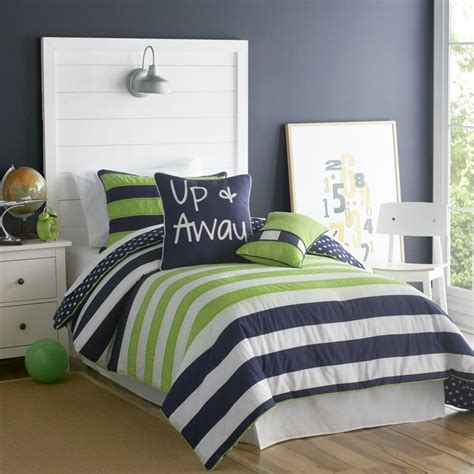 blue and green boys bedroom big believers up and away 3 piece comforter set teen boy