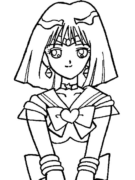 sailor saturn pages coloring pages