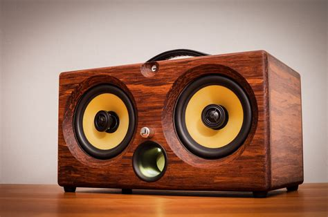 Handmade Audio - ibox xc hd chocolate bamboo wireless bluetooth speaker