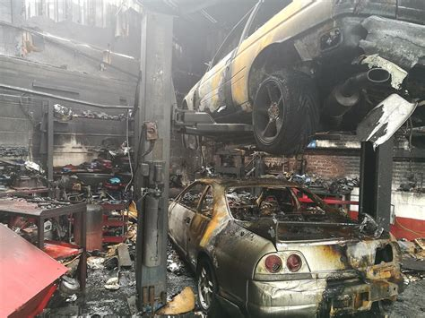 nissan gt  hoard destroyed  specialty shop fire