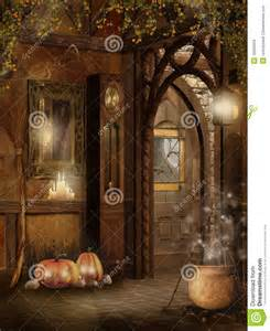 cottage interior halloween decorations stock images image 16290504