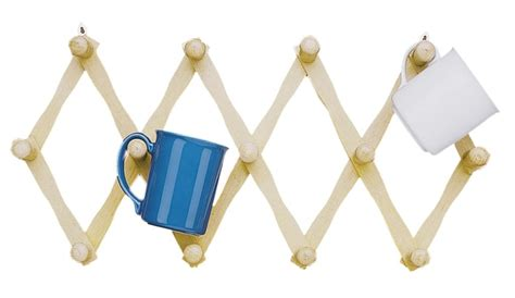 Wooden Mug Rack Wall by Fox Run Expanding Beechwood Coffee Mug Wall