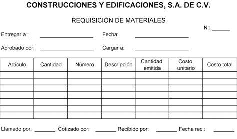 formato requisici 243 n de compra office formats como hacer una requisicion de compra contabilidad de