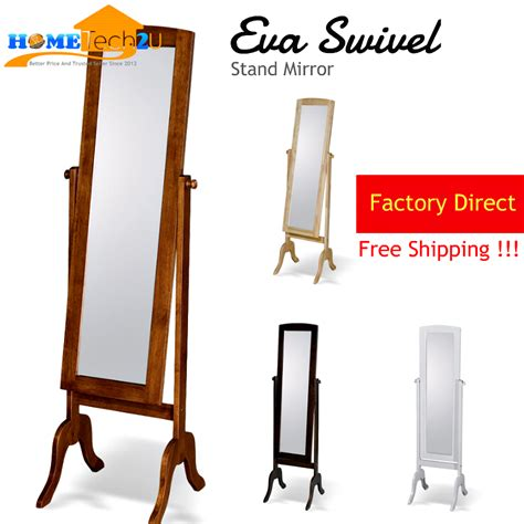 eva solid wood swivel stand mirror 11street malaysia floor standing mirror