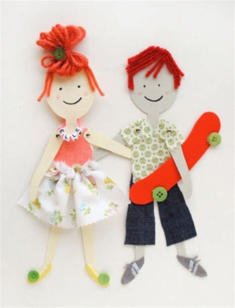 How To Make Doll Using Paper - paper dolls myideasbedroom