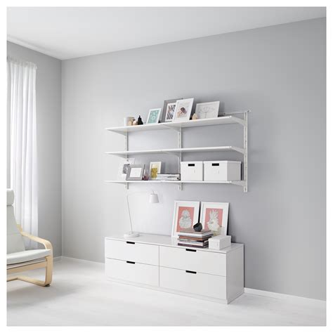 Algot Wall Upright Shelves White 176x41x87 Cm Ikea Ikea Algot Shelves