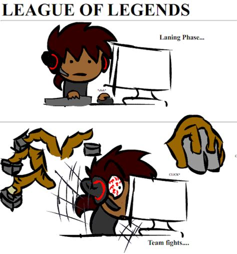 League Of Legends Meme - this is why league makes you stressed after laning phase