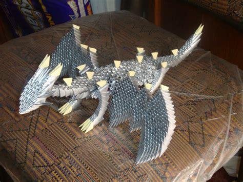 3d Origami Dragonfly - silver dragon album jcats23 3d origami