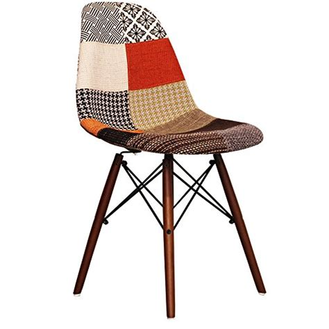 Patchwork Style - patchwork eames style dsw chair with walnut legs retro stuhl