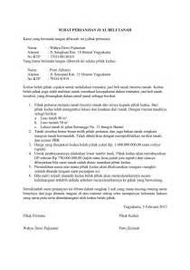 contoh surat jual beli tanah doc contoh draft surat
