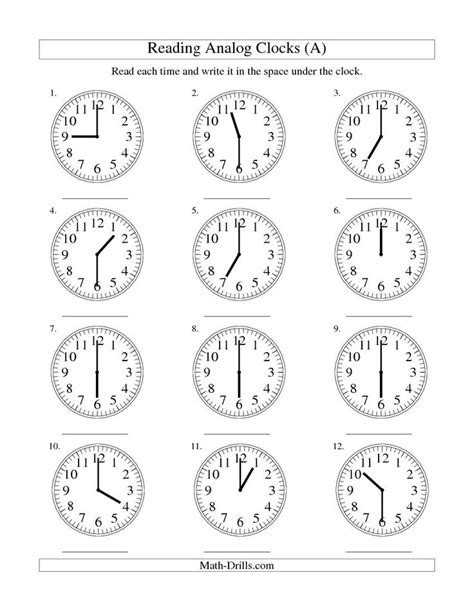 worksheet clock reading reading time on an analog clock in 30 minute intervals