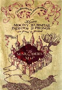 harry pottert marauders map art wall art print by
