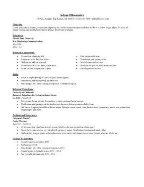 Cv Format For Internship by Resume For Internship 998 Sles 15 Templates How To