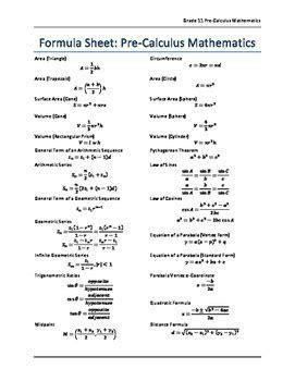 Image Result For Calculus Formulas Cheat Sheet Omkarsigh