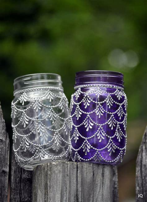 henna design mason jars bohemian moroccan mason jar tinted lanterns lighting decorated