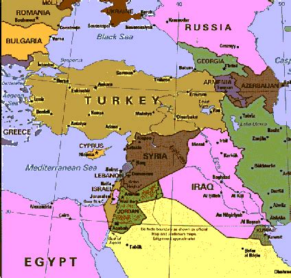 middle east map cyprus 1