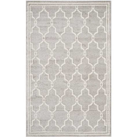 safavieh amherst light grey indoor outdoor rug 6 x 9