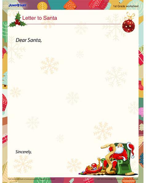 letter to santa template worksheet letter to santa view christmas worksheets for kids
