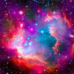 small magellanic cloud smc galaxy digital art by ram vasudev