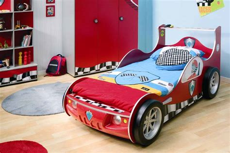 cing themed bedroom race car themed boys room in blue and red with storage