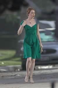 Emma Stone Dress La La Land | emma stone filming la la land in los angeles