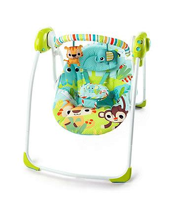 bright starts biscotti baby portable swing baby swing baby swing chair from mothercare
