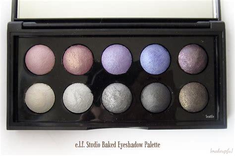 Promo Baked Eyeshadow Palette e l f studio baked eyeshadow palette review makeupfu