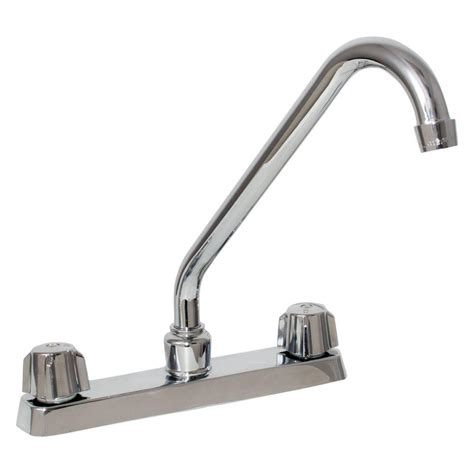 2 handle standard kitchen faucet in chrome hs8181210cp ez flo basic n brass collection 2 handle standard kitchen