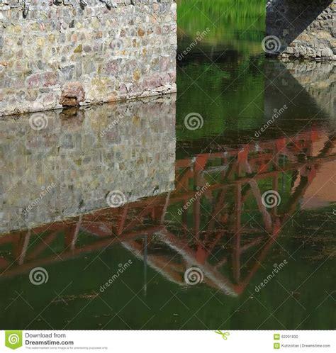 interesting angles bridge reflecting stock photo image 62201830