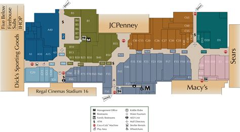 Natick Mall Floor Plan by Mall Directory Southpark Mall