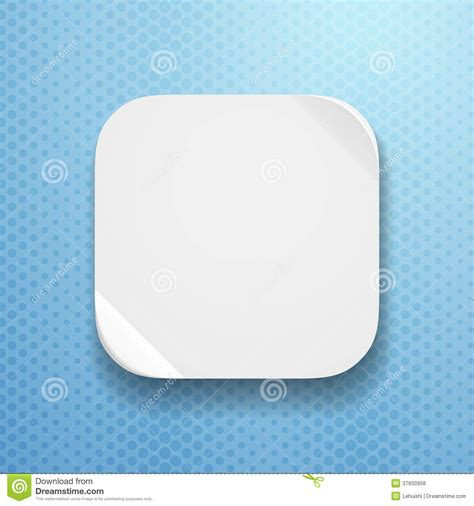 blank app icon template with flatted paper textur royalty
