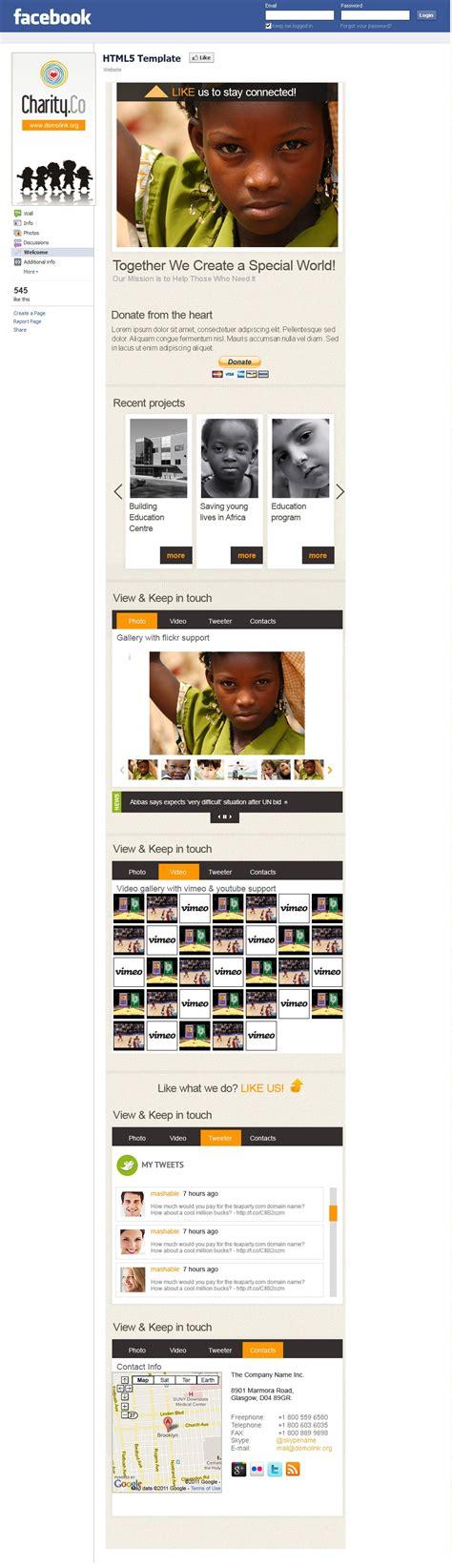 facebook themes original mod 232 le facebook 36613 pour site d association caritative
