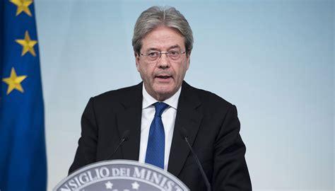 presidente consiglio dei ministri g7 taormina la nomina commissario arriva in consiglio