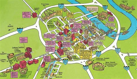 usa map nashville map of downtown nashville nashville map official guide