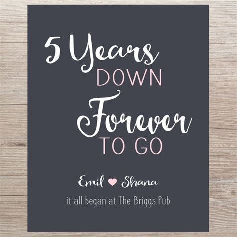Wedding Anniversary Gift Etsy by 5 Year Anniversary Gift It All Began By Printsbychristine