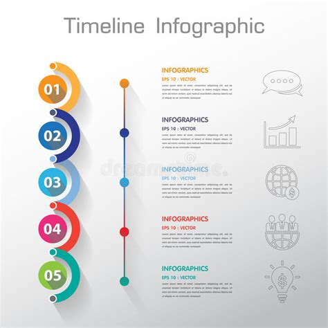 long shadow design clean number timeline templategraphic