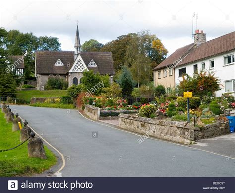 houses to buy in derbyshire the school house and houses in ilam village in derbyshire england uk stock photo