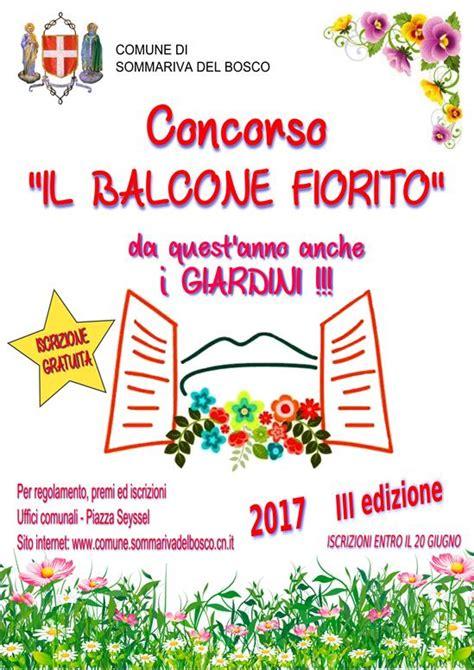 concorso balcone fiorito concorso quot il balcone fiorito quot 2017