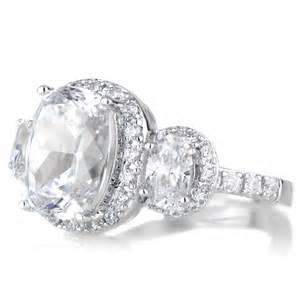 Cushion Cut Halo Engagement Rings Emily S 3 Halo Cushion Cut Engagement Ring