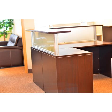 glass reception desks glass l shape reception desk