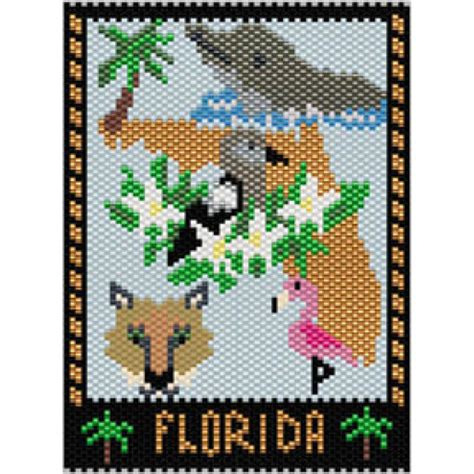 beaded tapestry patterns florida state mini tapestry bead patterns