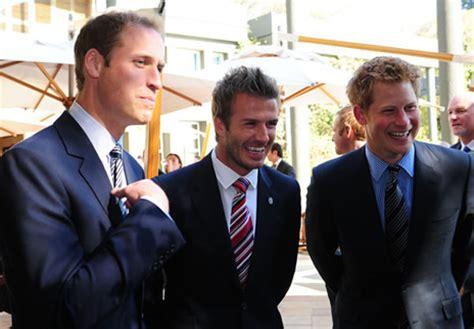 See Hear Beckham On Being A Prince by Les Princes William Et Harry Rencontrent Les Joueurs De L